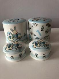 New Baby Boy/Blue First Curl/ Tooth + 2 money boxes