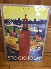 Stockholm tourism poster