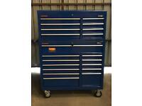 Draper 20 Drawers 2pcs Jumbo Tool Chest Box. car,van,lorry,jeep,machinery,drills