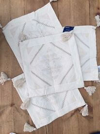 Cream cushion covers - NEW - Collect Locally