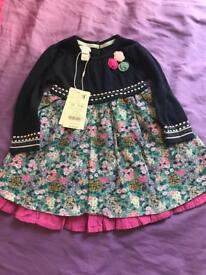 Monsoon baby girl dress 6-12 months New with tags