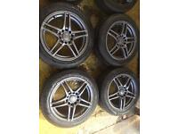 """16"""" WOLFRACE ALLOY WHEELS BMW 1 SERIES 3 SERIES CIVIC ACCORD SET OF 4"""