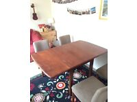 Wooden table with optional 4 chairs