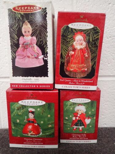 lot of 4 vintage Hallmark Keepsake Christmas Ornaments Madame Alexander Series