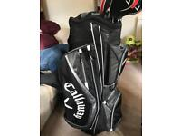 Golf clubs and callaway bag