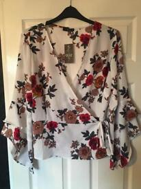Floral wrap over top size 18
