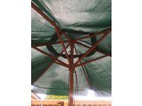 Summer parasol garden shade wooden strong