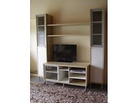 IKEA - Storage Display Cupboards with matching TV/DVD bench . [TV &DVD shown not included]