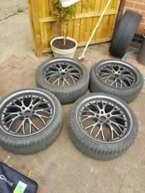 Alloys 5x108 x18 with hankook tyres