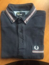 Fred Perry Polo Navy with Red trim size small