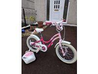 Girls trek bike with stabilisers