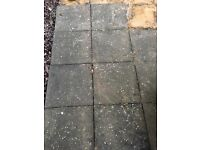 Used 450x450mm paving slabs