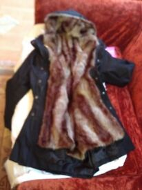 gorgeous fake fur lined coat