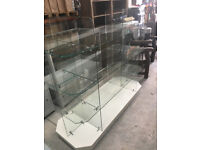Oblong Glass Shelved 4 Tier Display Unit