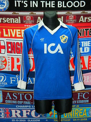 4/5 Halmstads adults M 80's original ultra rare football shirt jersey skjorta image