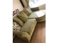 Green 3 seater sofa
