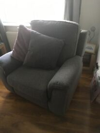DFS power recliner sofa and chair