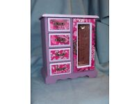 Upcycled Musical Jewellery Box Pink Purple