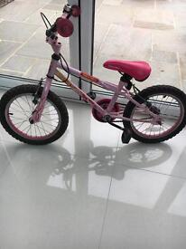 Girls Apollo pink bike 16inches