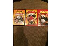 Both king fu panda films and Kung fu panda and the secrets of the furious five