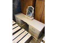 Large solid wood dressing table for sale
