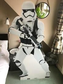 Star Wars Stormtrooper life size cardboard cut out party prop