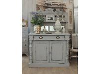 Shabby chic antique Victorian chiffonier/sideboard/dresser