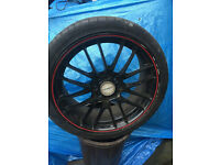 Alloy wheel and tyre