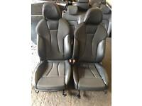 AUDI A3 8V S LINE LEATHER INTERIOR IN BLACK COMPLETE WITH DOOR CARDS