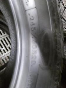 P245/50R20X4(TOYOTA VENZA) GOOD YEAR ULTRA GRIP WINTER TIRES USED ALMOST BRAND NEW FOR SALE