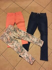 Girls bundle of skinny jeans NEW LOOK age 12/13