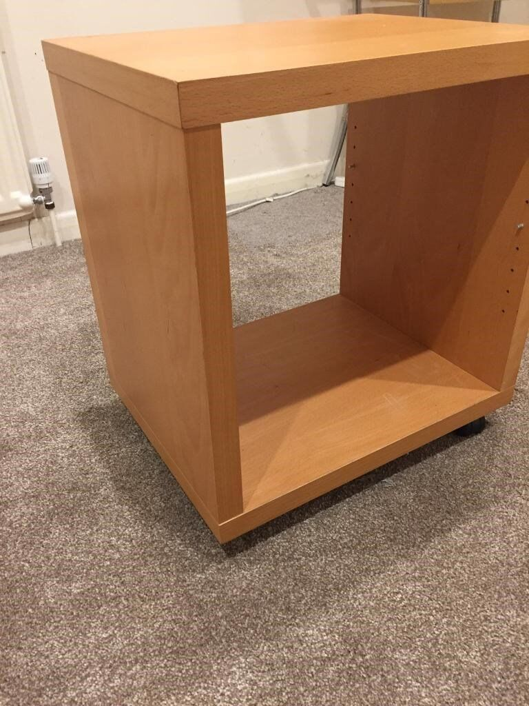 Cube Table Beech Wood Bedside Table Coffee Table Side Table