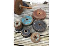 Metal weight discs