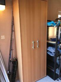Maple office cupboard