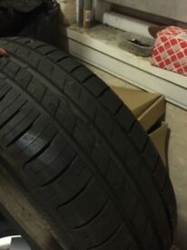 4 steel wheels 5x112 came of a vw golf 4 brand new contanental tyres and 4 new vw wheel trims