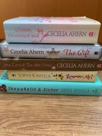 Cecilia Ahern and Sophie Kinsella books
