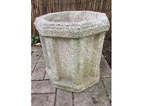 Used re-constituted granite flower pot