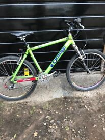 Orange Evo 2 lime green mountain bike