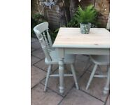 Solid pine painted Dining Kitchen Table and Chairs Set