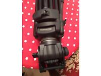 Manfrotto Manfrotto 525MVB Pro Video Tripod with 503HDV Fluid Head and Vinten spreader.