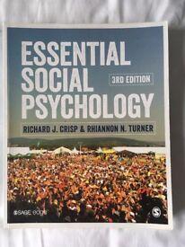 Essential Social Psychology, third edition, by Richard J. Crisp & Rhiannon N. Turner