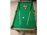 "Pool/games table -kids 40.5"" x 23""."