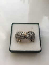 9ct gold double boxing glove ring very rare , hallmarks great condition not worn by myself