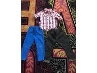 Age 3-4 boys clothes Baby K shirt and 2 x George jeans dark ones never worn lovely