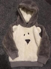 NEXT BEAR FLEECED HOODIE