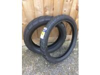 "Michelin Anakee 2 front 90/90 21"" and rear 150/70 "" brand new tyres. Triumph Tiger, BMW F800gs."