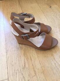 Clarks wedge sandals (size 6.5)