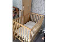 Space saver cot with mattress