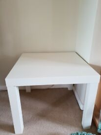 White Ikea occassiobal table