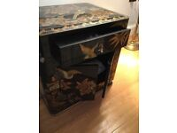 Chinese modern small lacquered cabinet
